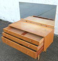 1960's Light Wood Retro Dressing Table by Meredew